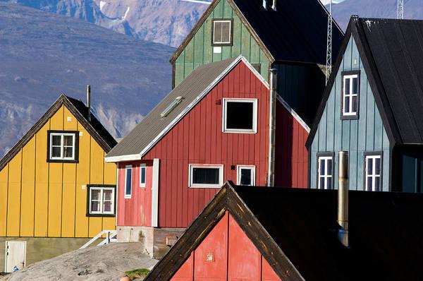 Conserved Photograph - Traditional Houses, Uummannaq, Greenland by Daisy Gilardini