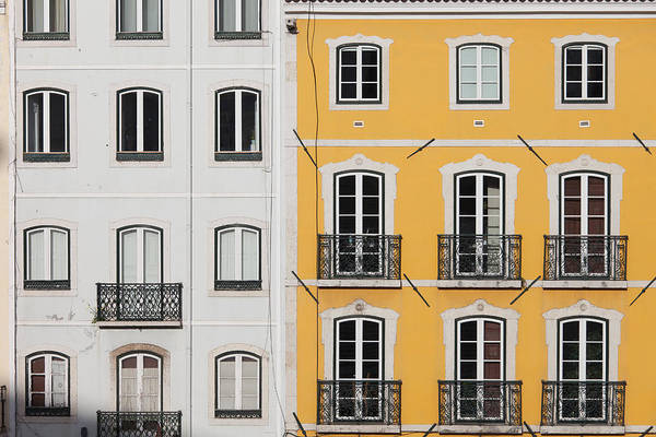 Tenement Photograph - Traditional Row Houses In Lisbon by Artur Bogacki