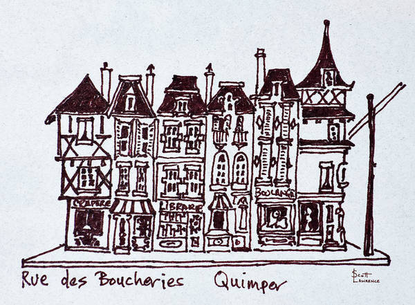 Wall Art - Photograph - Traditional Storefronts Along Rue Des by Richard Lawrence