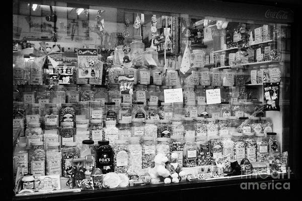 Wall Art - Photograph - Traditional Sweet Candy Shop Window Newcastle County Down Northern Ireland by Joe Fox