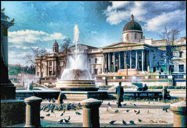 Photograph - Trafalgar Square - 1954 by Chuck Staley