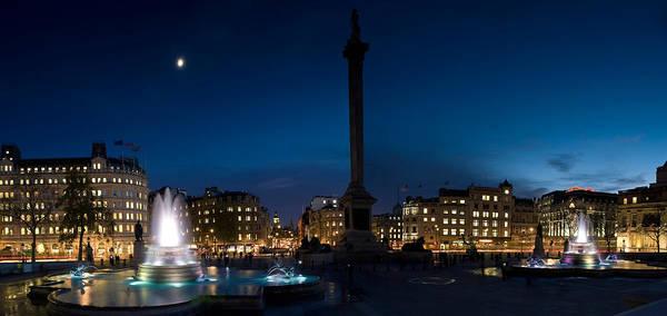 Trafalgar Photograph - Trafalgar Square At Night, London by Panoramic Images