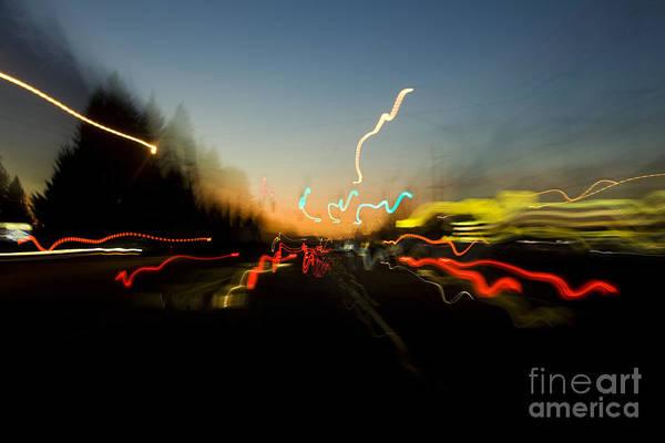 Photograph - Traffic Blur by Charmian Vistaunet