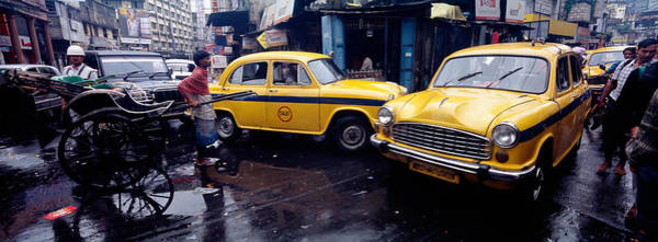 Kolkata Photograph - Traffic In A Street, Calcutta, West by Panoramic Images
