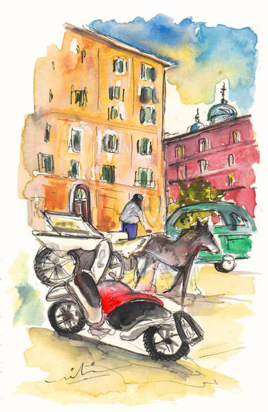 Painting - Traffic In Palermo by Miki De Goodaboom