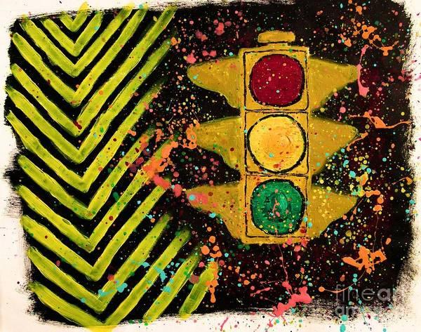 Stop Light Painting - Traffic Jam by Marina McLain