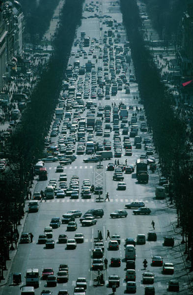 Champ Photograph - Traffic Jam Of Cars by Martin Dohrn/science Photo Library