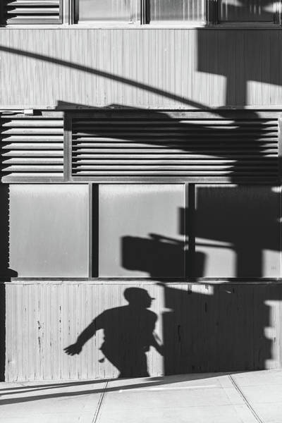 Photograph - Traffic Light And Silhouette Shadows by Guillermo Murcia
