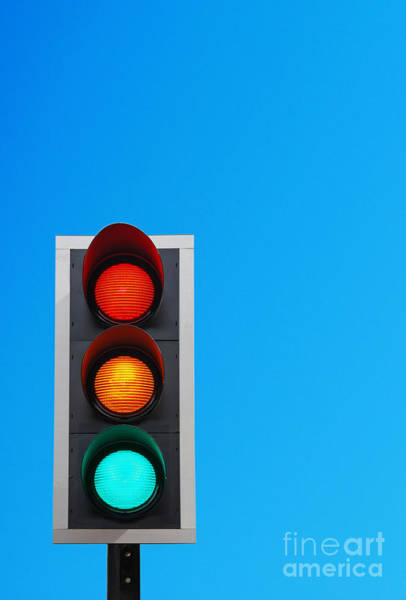 Wall Art - Photograph - Traffic Lights by Luis Alvarenga