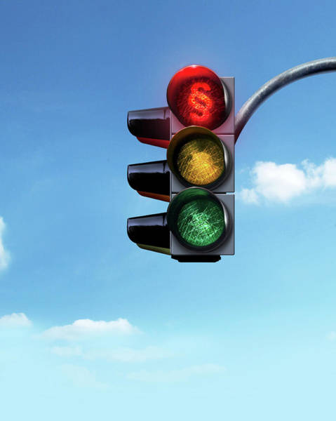 Stop Light Photograph - Traffic Lights by Smetek/science Photo Library