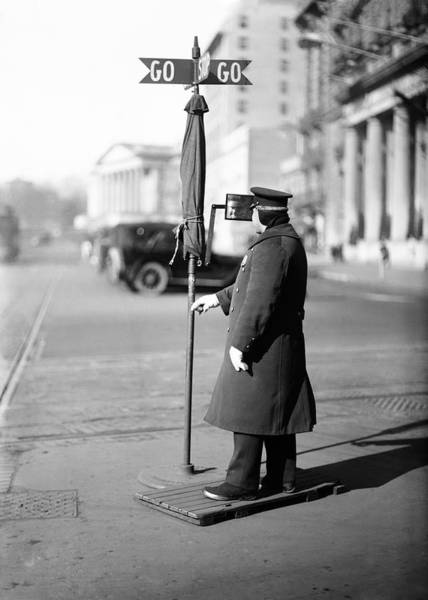 Law Enforcement Photograph - Traffic Officer by Library Of Congress