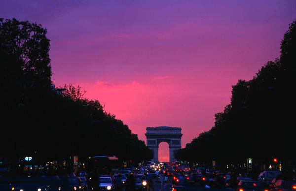 Photograph - Traffic On The Champs-elysees And The by Izzet Keribar