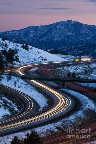 Interstate 5 Wall Art - Photograph - Traffic, Slow Shutter by Sean Bagshaw