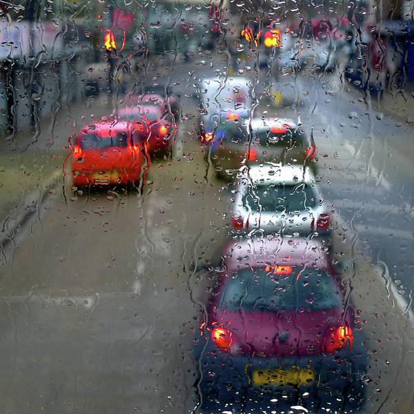 Rain Photograph - Traffic Under Rain by Ekaterina Nosenko