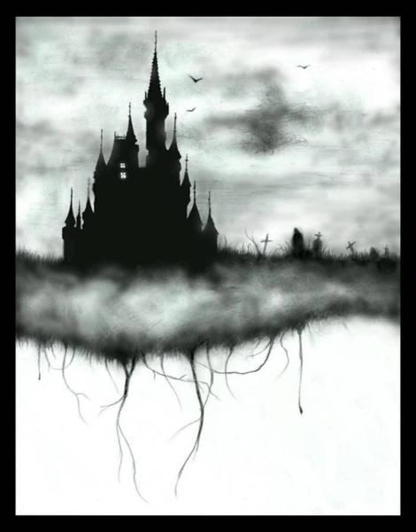 Black Magic Drawing - Tragic Kingdom by Lance Shaffer