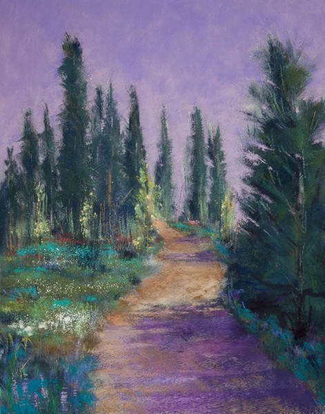 Wall Art - Painting - Trail In The Woods by David Patterson