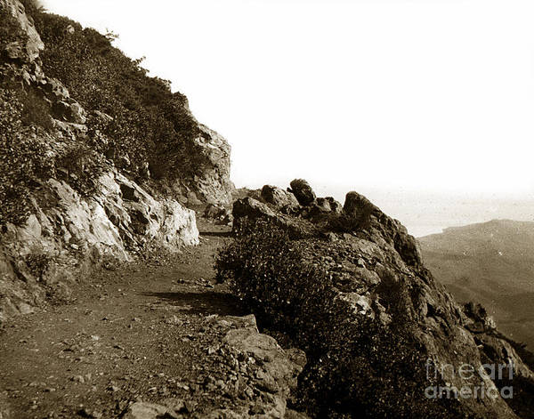 Photograph - Trail On Mt. Tamalpais Marin Co California Circa 1902  by California Views Archives Mr Pat Hathaway Archives
