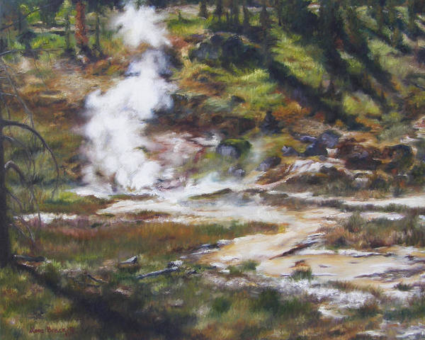 Painting - Trail To The Artists Paint Pots - Yellowstone by Lori Brackett