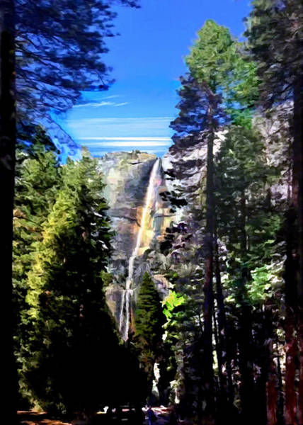Painting - Trail To Yosemite Falls by Bob and Nadine Johnston