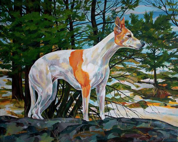 Elegant Dog Painting - Trailblazer by Derrick Higgins