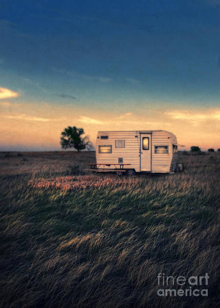Camping Photograph - Trailer At Dusk by Jill Battaglia