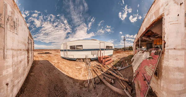 Trailer Photograph - Trailer On Bombay Beach, Salton Sea by Panoramic Images