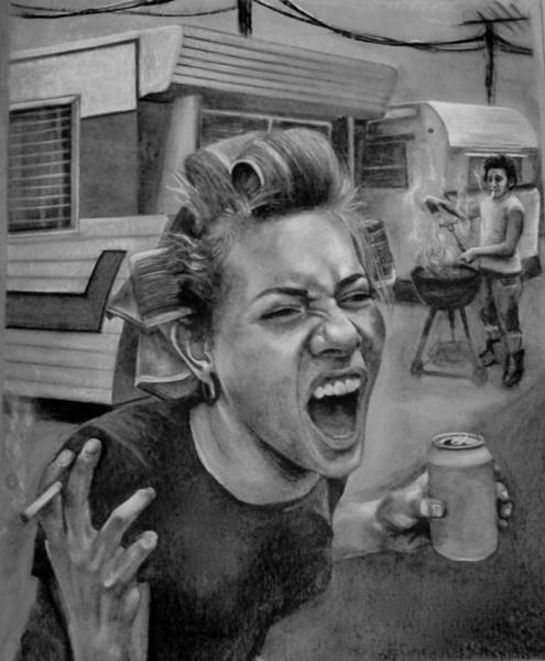 Trailer Drawing - Trailer Trash by Britt Kuechenmeister