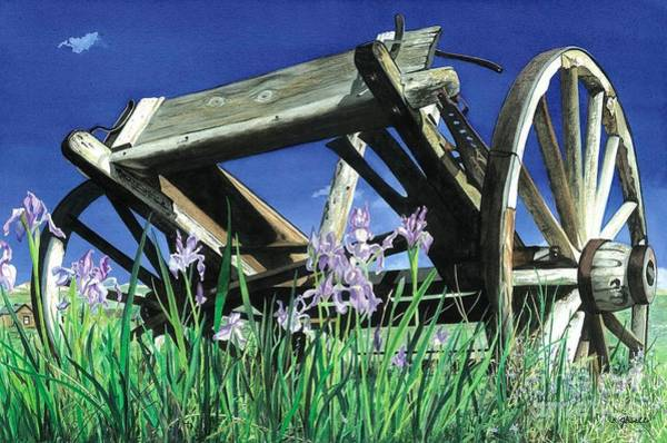 Bodie Painting - Trail's End by Barbara Jewell