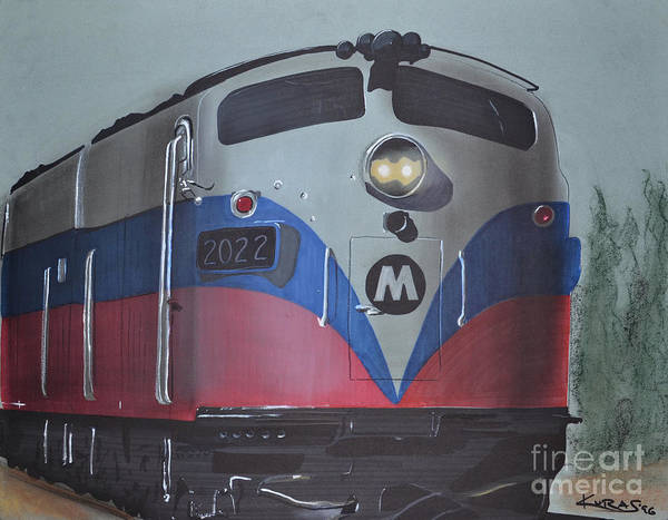 Locomotive Drawing - Train Approaching by Paul Kuras