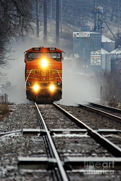 Photograph - Train At Alma Wi by Larry Ricker