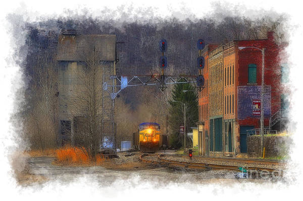 Photograph - Train At Thurmond Wv by Dan Friend