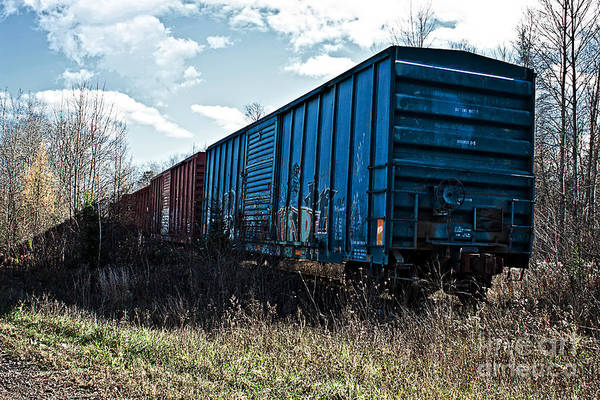 Photograph - Train Boxcars by Ms Judi