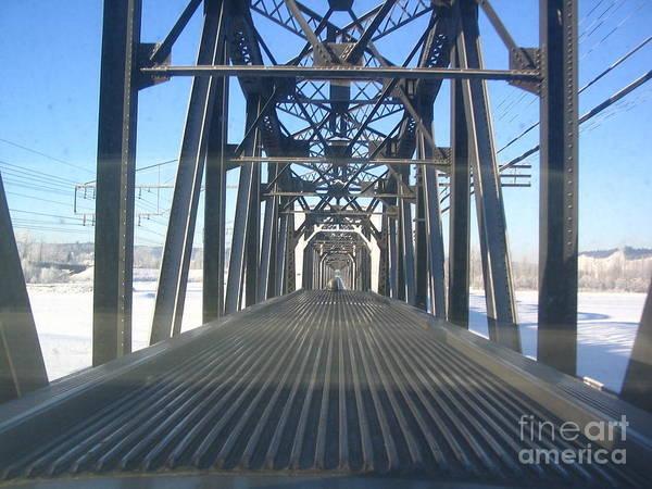 Photograph - Train Bridge by Vivian Martin