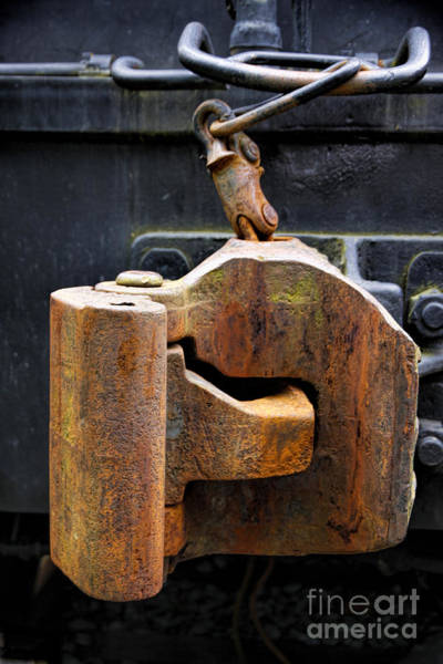 Photograph - Train Car Coupler by Richard Lynch