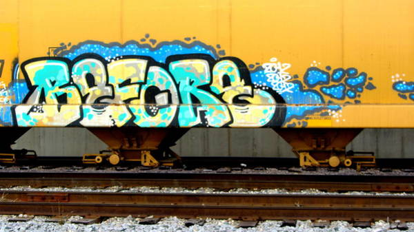 Photograph - Train Car Graffiti 2 by Anita Burgermeister