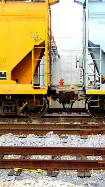 Photograph - Train Cars 3 by Anita Burgermeister