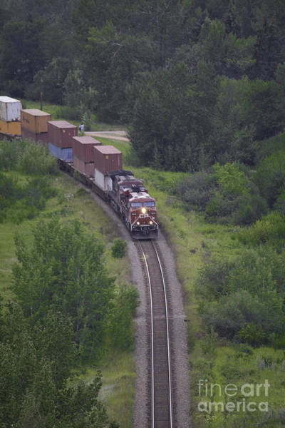 Photograph - Train Coming Through by Donna L Munro