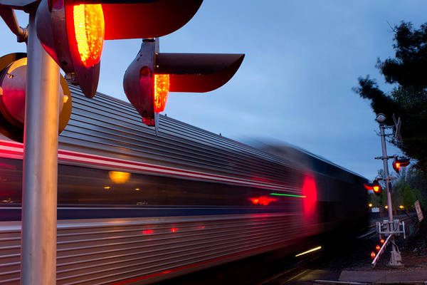 Photograph - Train Crossing Road by Kyle Lee