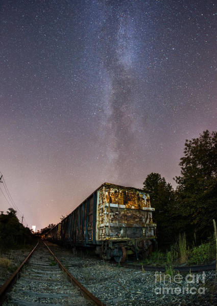 Michael Photograph - Train Decay Under The Milky Way by Michael Ver Sprill