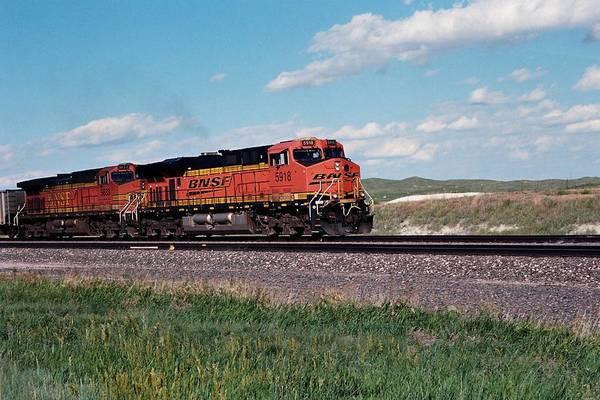 Train Engines On The Prairie Art Print