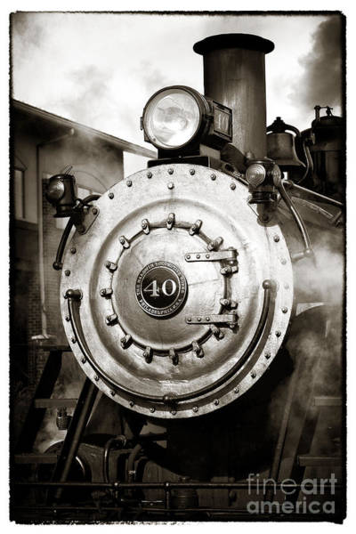 Photograph - Train Face by John Rizzuto