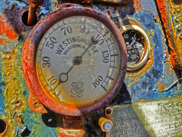 Photograph - Train Gauge by Gregory Dyer