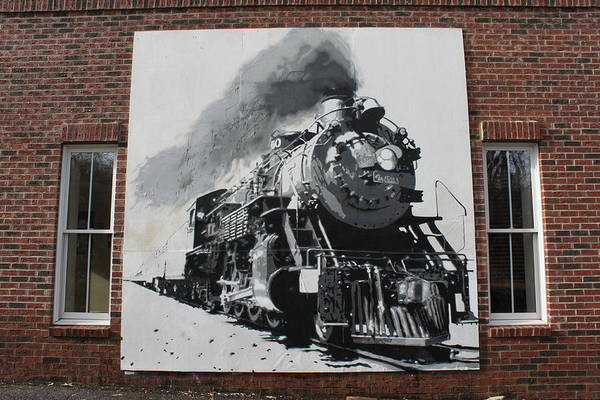 Wheatpaste Mixed Media - Train Mural by Dustin Spagnola