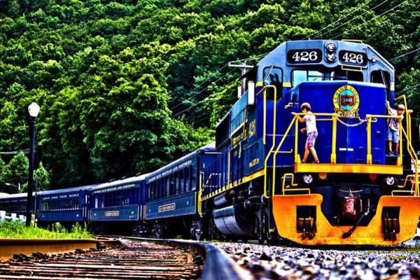 Photograph - Train Play by Tyson Kinnison