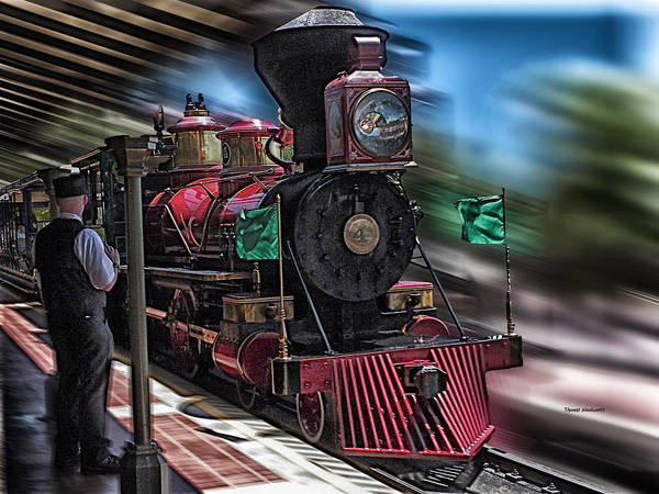 Wall Art - Photograph - Train Ride Magic Kingdom by Thomas Woolworth