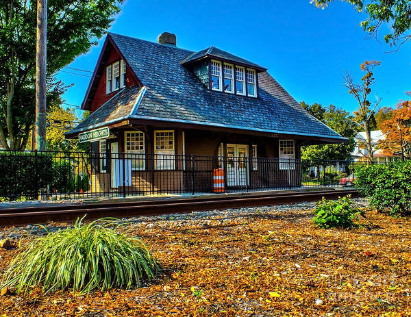 Photograph - Train Station - Haddon Heights by Nick Zelinsky