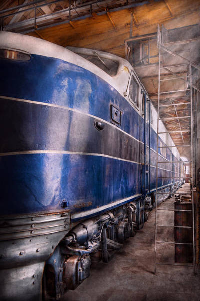 Photograph - Train - The Maintenance Facility  by Mike Savad