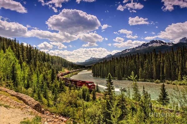 Canada Wall Art - Photograph - Train Through The Mountains by Viktor Birkus