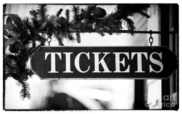 Photograph - Train Tickets by John Rizzuto