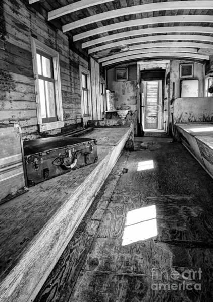 Photograph - Train Time Travel Bw by Mel Steinhauer